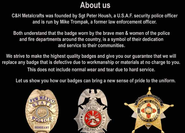 Police Badge Manufacturers Maker | Wallets | Holder New Mexico
