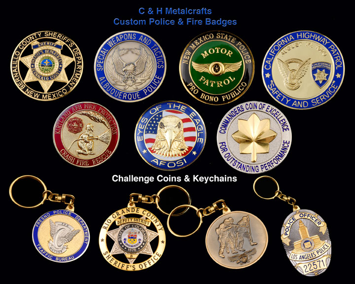 Custom Law Enforcement Badges | Challenge Coins Medals New