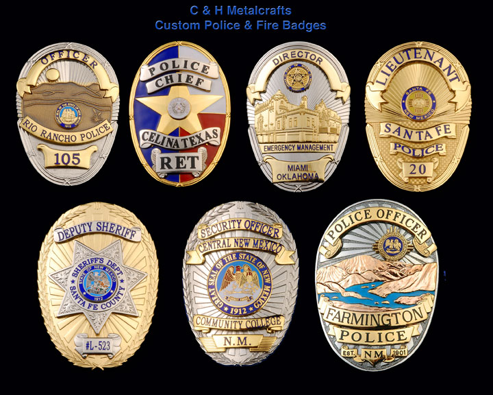 Custom Police Badges for Sale New Mexico | Maker | Manufacturer