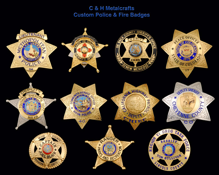 Fire Dept Department Service Badges New Mexico | Law